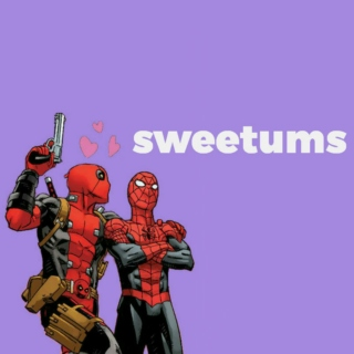sweetums: a totally serious spideypool mix