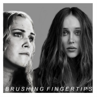 brushing fingertips