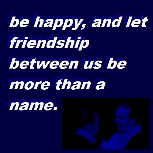 let friendship between us be more than a name // lams playlist