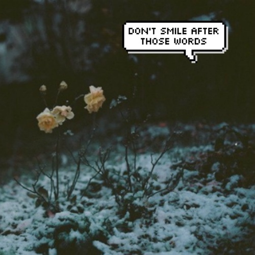 don't smile after those words