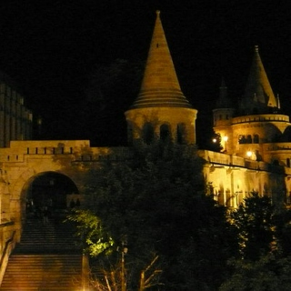 castles glowing at night