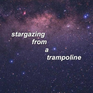 stargazing from a trampoline