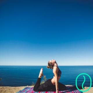 Yoga vibes - Chill and Breathe - Ocean feeling