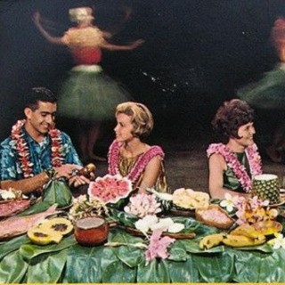 at the luau