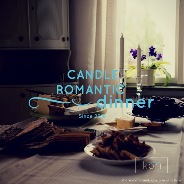 Candle romantic dinner
