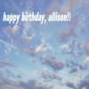 Happy Birthday Allison!!