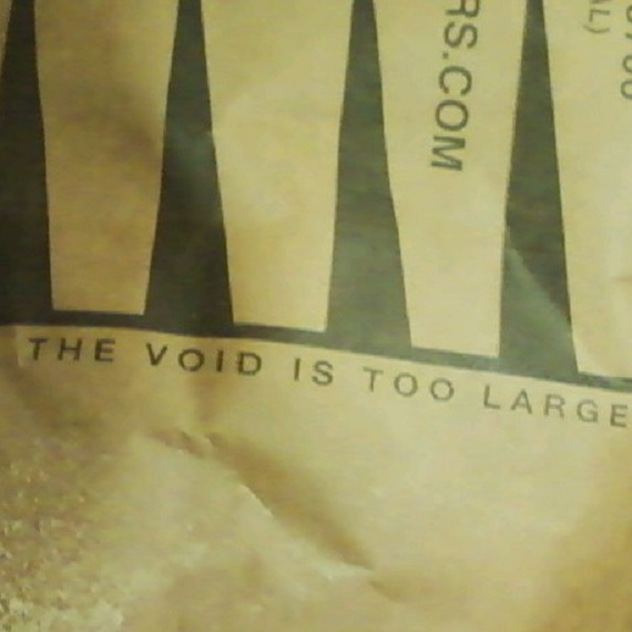 the void is too large