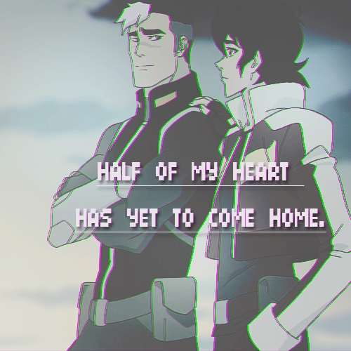 half of my heart has yet to come home.