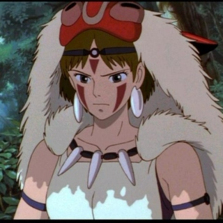 studying between the wolves with princess mononoke