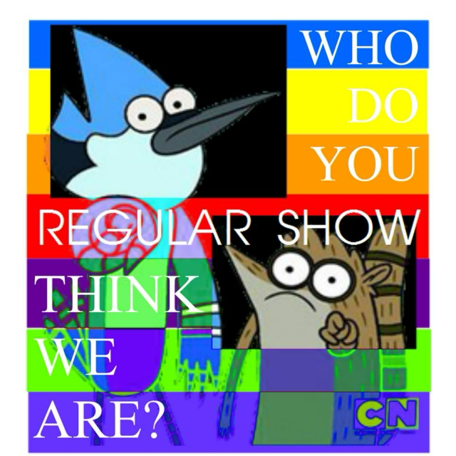 Regular Show's WHO DO YOU THINK WE ARE?