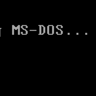 Welcome to MS-DOS.