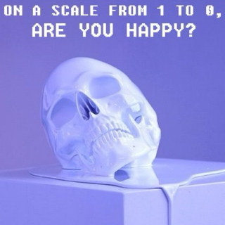 on a scale from 1 to 0, are you happy?