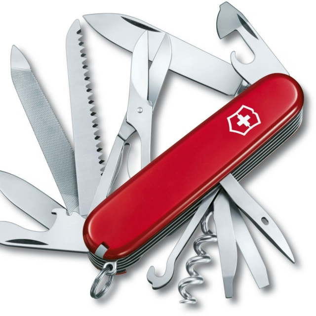 Get stabbed with a swiss army knife