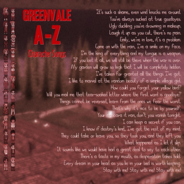 Greenvale A-Z Character Songs