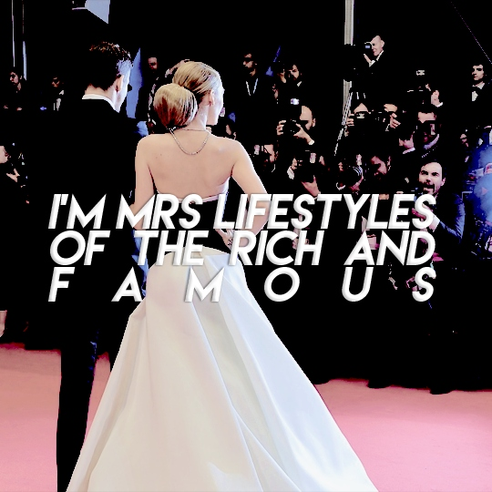 I'M MRS LIFESTYLES OF THE RICH AND FAMOUS !