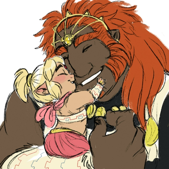 Growing Up Gerudo AU: Father and Son
