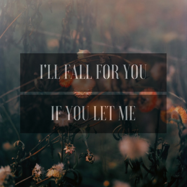 I'll fall for you, if you let me