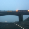 poor visibility; reduce speed