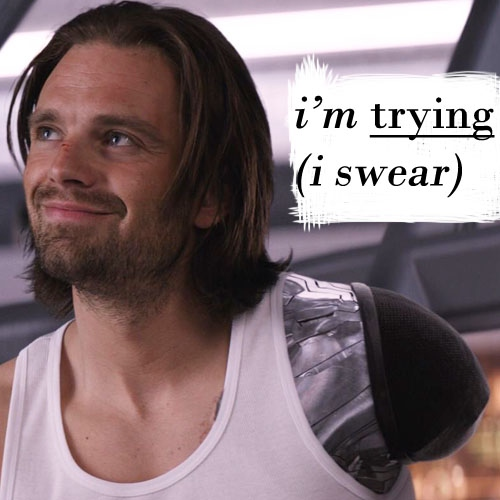 bucky's trying (he swears)
