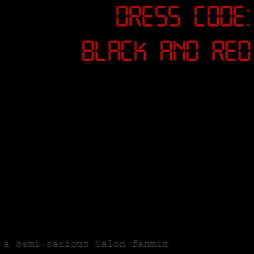 dress code: black and red