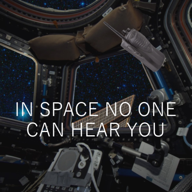 in space no one can hear you