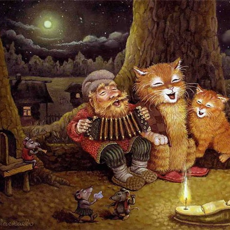 Mandolins Played by Forest Critters