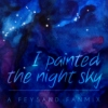 I painted the night sky.