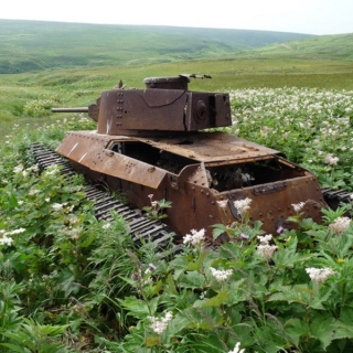 abandoned war machine