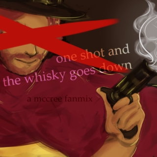 one shot and the whisky goes down