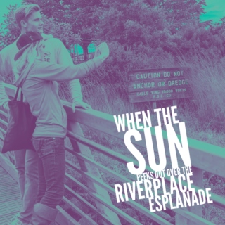 When the sun peeks out over the RiverPlace Esplanade