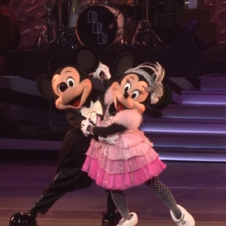 Silver Fishnet Stockings on Minnie Mouse...Never Thought I'd See The Day~