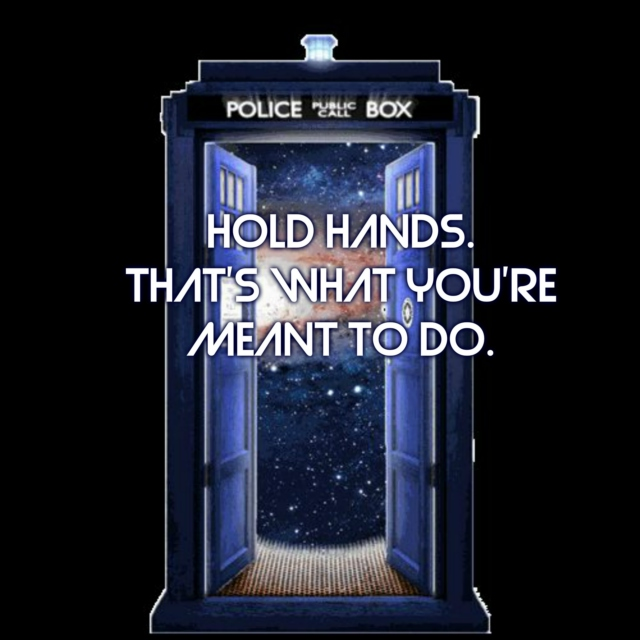 Doctor x Companion: Hold hands.