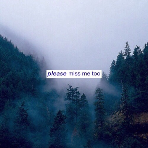 So you miss me