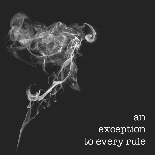 an exception to every rule