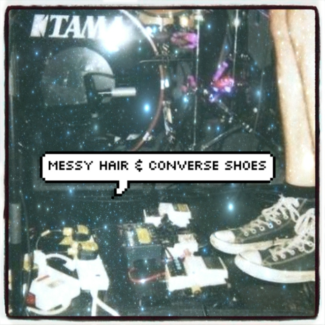Messy Hair &  Converse Shoes
