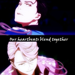 Our heartbeats blend together