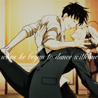 when he began to dance with me