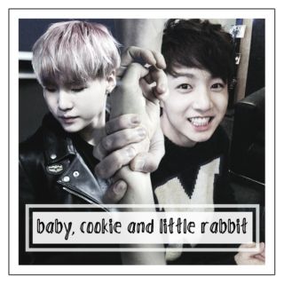 baby, cookie and little rabbit