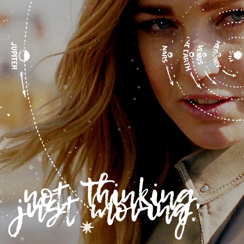 not thinking, just doing.