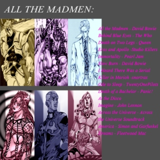 All The Madmen// A Jojo's Bizarre Adventure Villains Fanmix