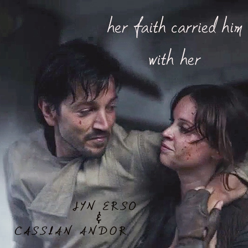 her faith carried him with her