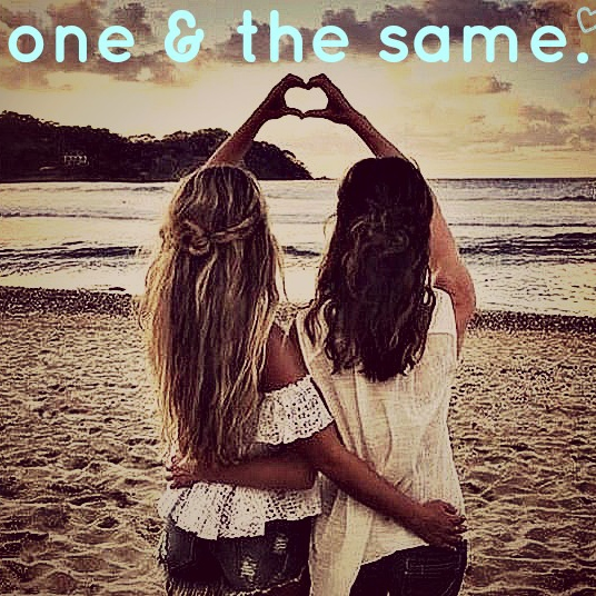 one & the same.