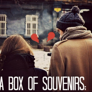 a box of souvenirs;