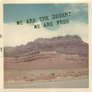 we are the desert / we are free
