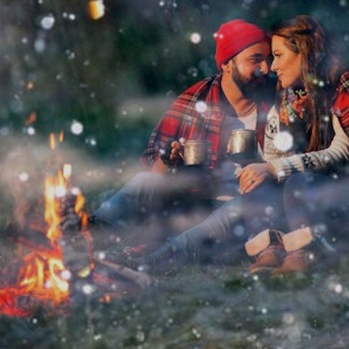 ☔ Camping With Quiet Rain & LOVE ♥
