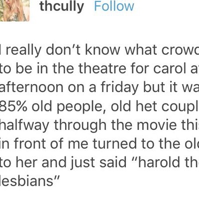 they're lesbians harold