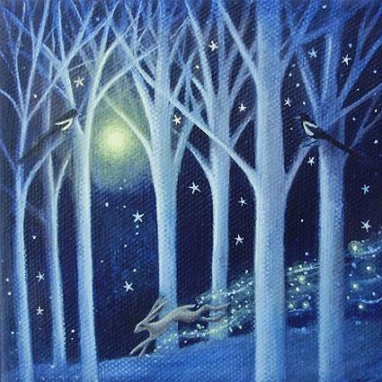 Magpies in the Moonlight