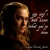 you and i both know what you've done: a cersei lannister fanmix