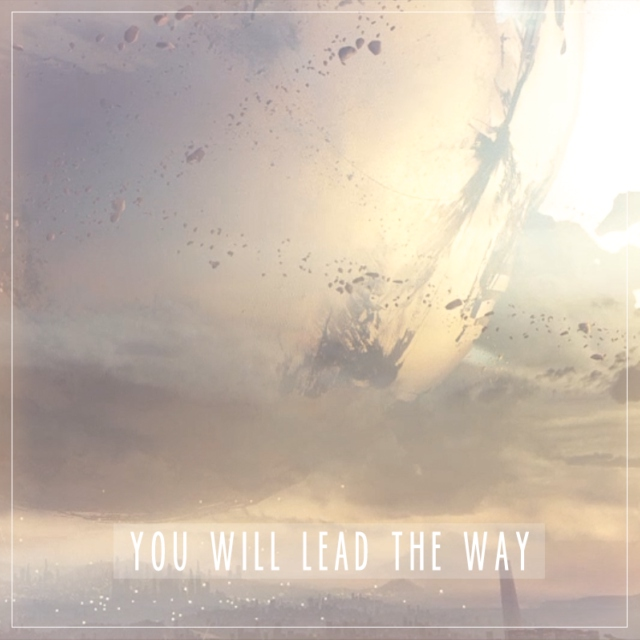 You will lead the way.