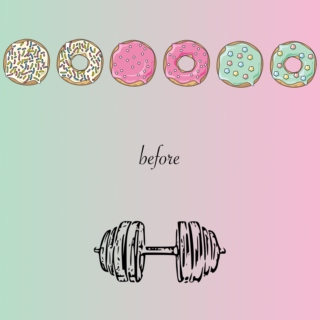 donuts before dumbbells
